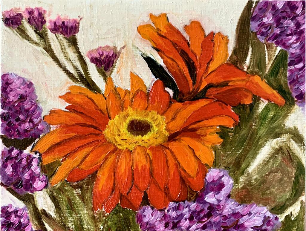 Orange Purple Flowers