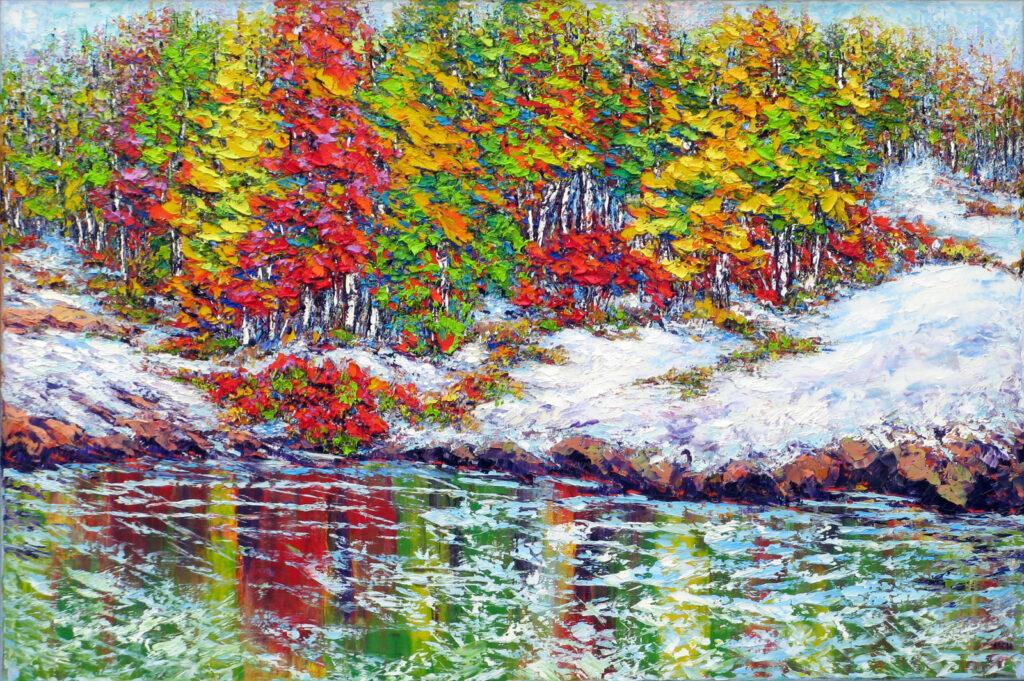 First Snow Ottawa River